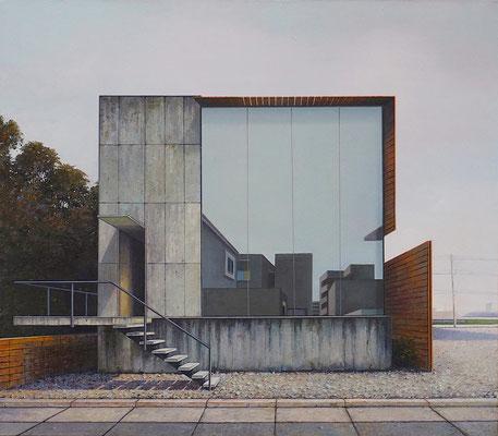 DER BAU , 2018 , Öl auf Leinwand , 105 x 120 cm