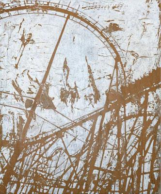 PLAYSTATION, 2020, Tusche und Aquarell auf Papier auf Holz, 60 x 50 cm