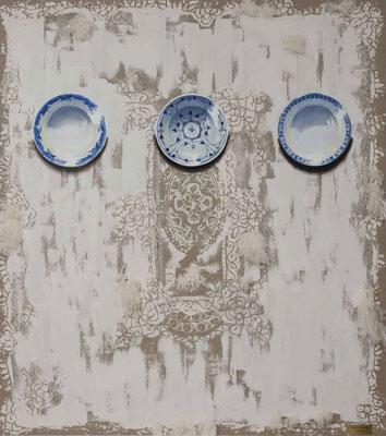 """""""UNWRITTEN..."""" VII, Öl und Zement auf Leinwand, 180 x 160 cm, 2015"""