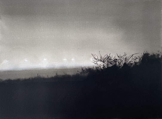 GHOSTS, 2020, Gouache auf Papier, 42 x 55,5 cm