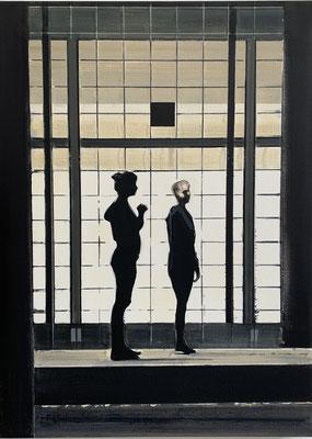 LIGHT GRID, 2020, Öl auf Leinwand, 110 x 80 cm