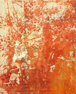 APOLLO 11, 2019, Acryl und Tusche auf Leinwand, 475 x 60 cm