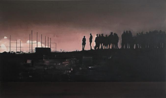 UNTITLED, 2020, Gesso und Graphit auf Leinwand, 40 x 30 cm