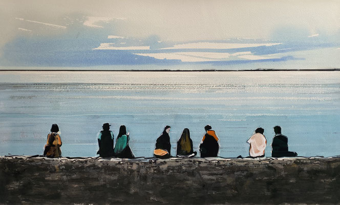 BLOSSOM, 2020, Gouache auf Papier, 56 x 88 cm