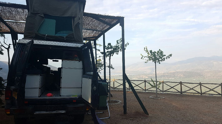 Op de camping in Delphi