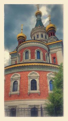 (c) Astrid Wagner (2016), Die Nikolaus-Basilika im Garten der russischen Botschaft