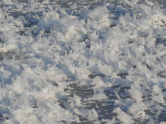 """Schmetterlinge"" = ulkige Eisgebilde auf dem See"