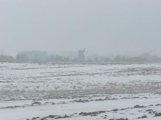 Eine Mühle sieht man doch noch hier und da überraschend in der Landschaft
