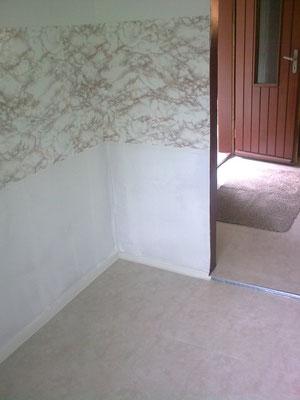 Gleicher Blick, nun auch mit neuem Fußboden