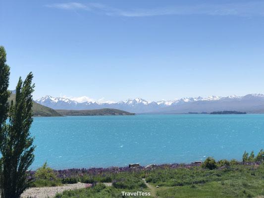 Blauw meer Lake Tekapo