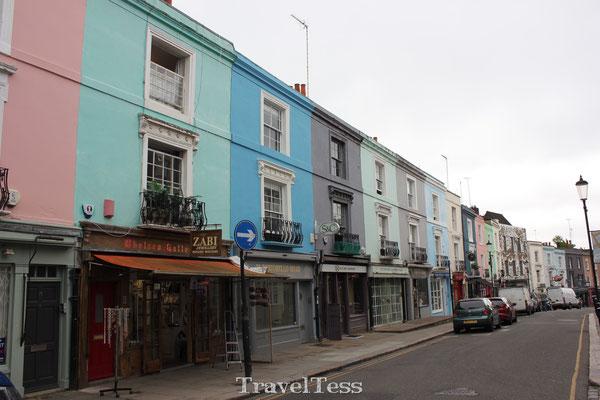 Nottinghill wijk Londen