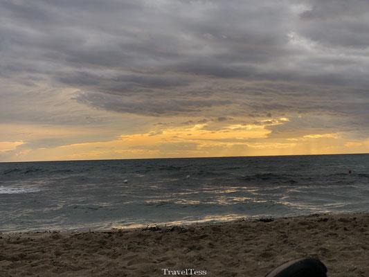 Ondergaande zon Ionische Kust