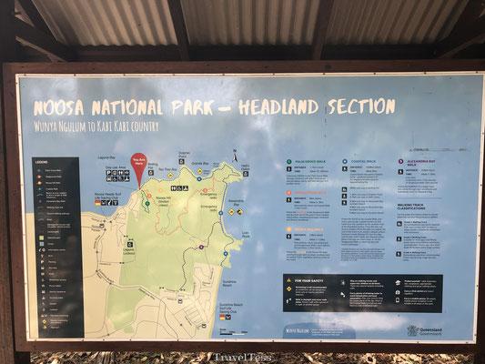 Kaart van Noosa National Park