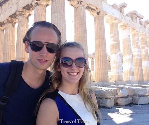 Selfie bij de Akropolis