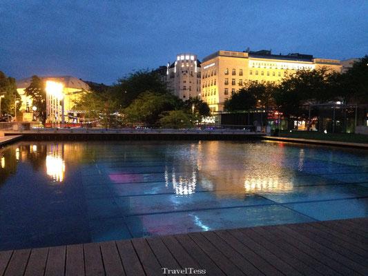 Plein met water in Boedapest