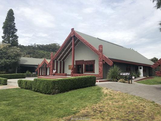 Traditioneel Maori huis in Te Puia