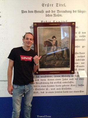 Op de foto met Napoleon