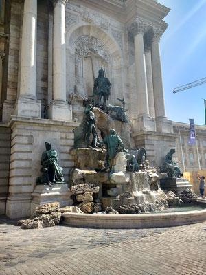 Fontein bij Burcht van Boedapest
