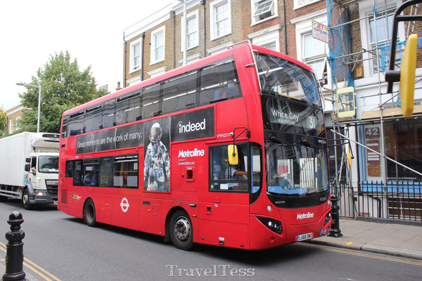 Rode dubbeldekker bus Londen