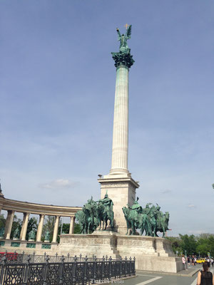 Heldenplein in Boedapest