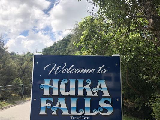 Welkomstbord Huka Falls