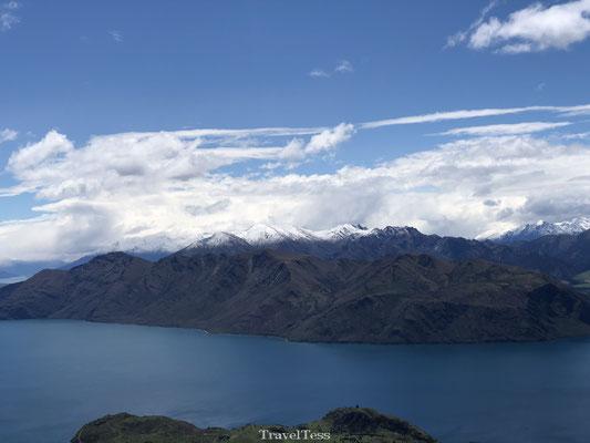 Besneeuwde bergtoppen Lake Wanaka