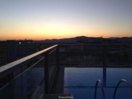 Zonsondergang in Athene