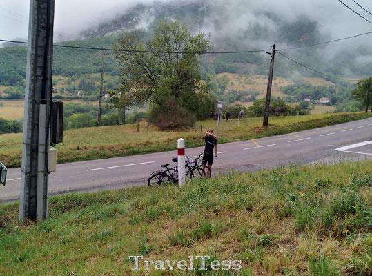 Rustpauze tijdens fietsen