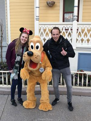 Goofy Disneyland Parijs ontmoeting