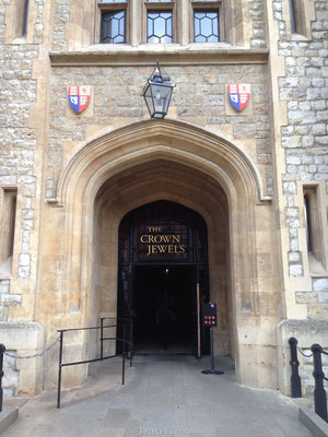Ingang Crown Jewels Tower of London