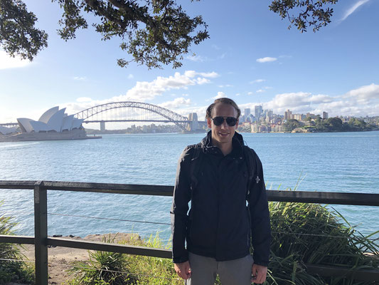 Max bij de Sydney haven