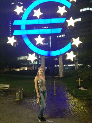 Euro symbool Frankfurt