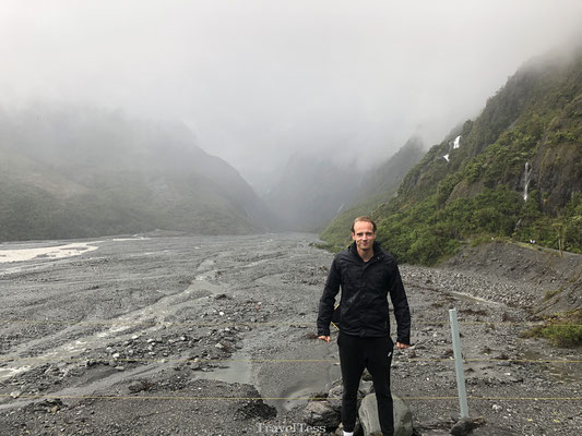 Mistig Franz Josef Glacier