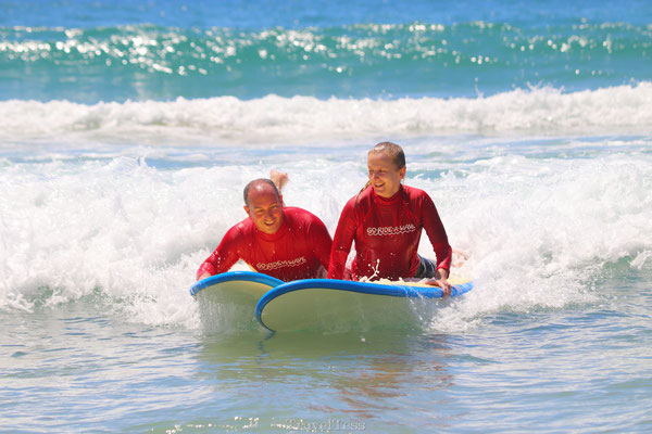 Surfen botsing