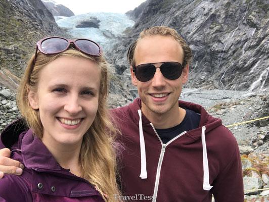 Aan de voet van de Franz Josef Gletsjer