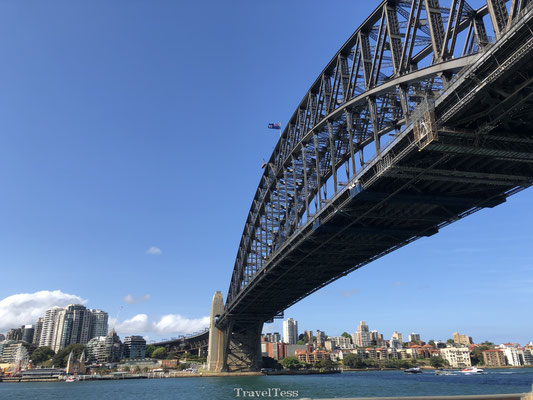 Onder de Sydney Harbour Bridge