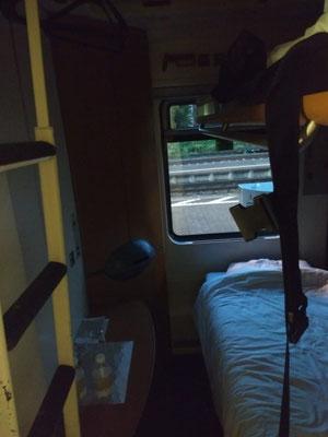 Met de nachttrein naar Frankfurt