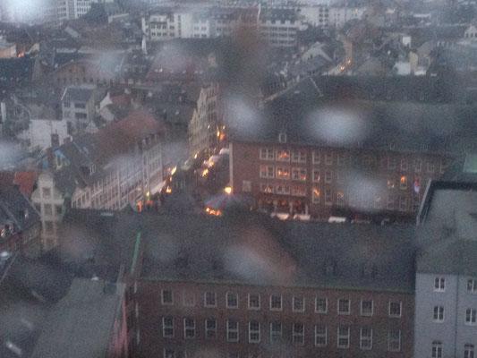 Uitzicht vanaf reuzerad Düsseldorf