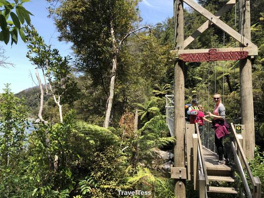 Abel Tasman Park hike hangbrug
