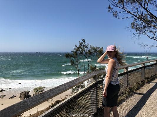 Harde wind in Byron Bay