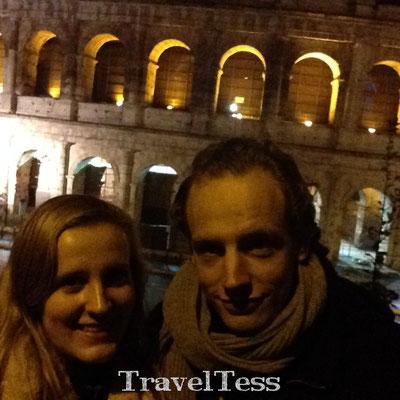 Selfie bij het Colosseum van Rome
