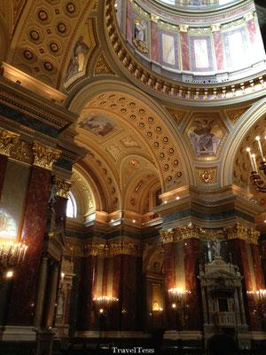 Interieur Sint-Stefanus Basiliek Boedapest