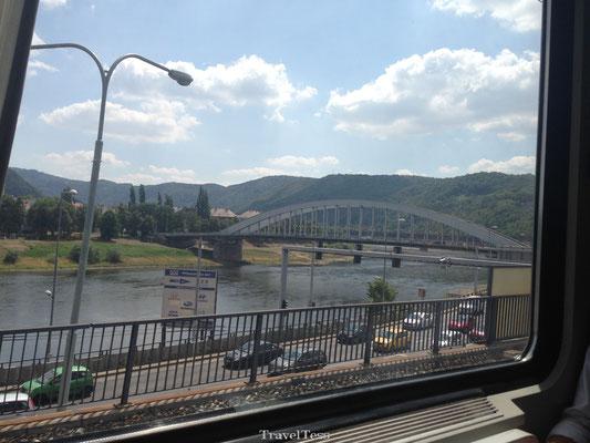 Interrail trein naar Praag