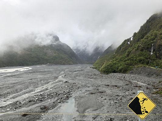 Franz Josef Glacier vallende rotsen