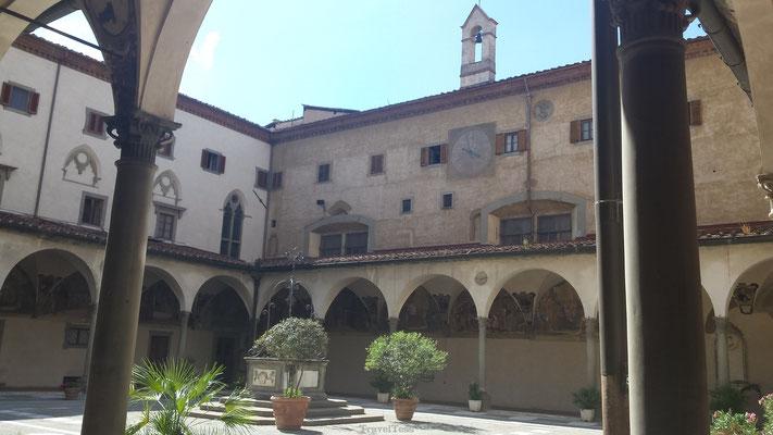 Binnenplaats kerk in Florence