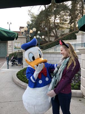 Donald Duck ontmoeting Disneyland Parijs