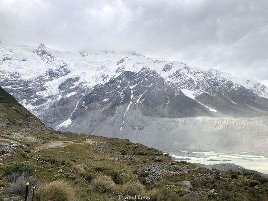 Besneeuwde bergen van Mount Cook National Park