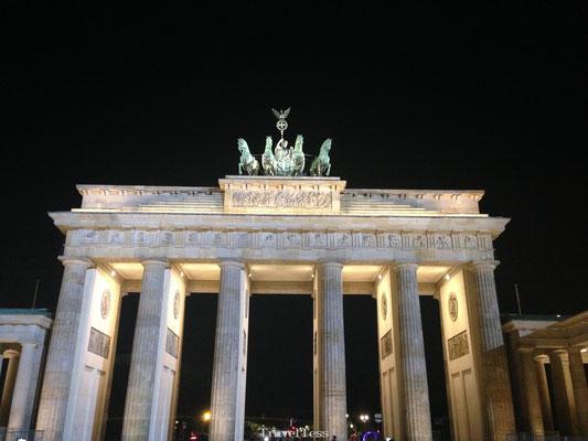 Brandenburger Tor in het donker