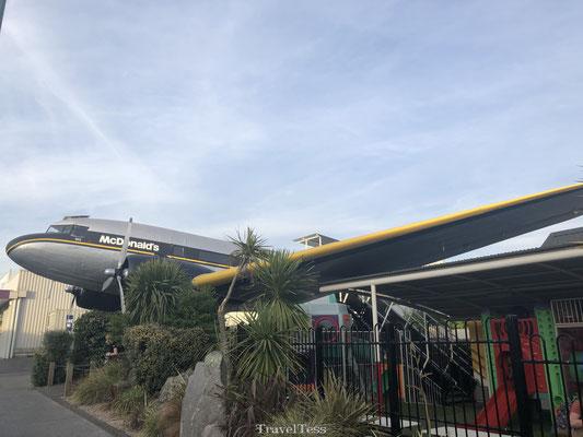 McDonalds vliegtuig in Taupo