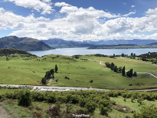 Mooi groen landschap Lake Wanaka